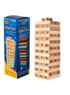 Rút gỗ Wiss Toy size nhỏ 17cm 54 miếng gỗ