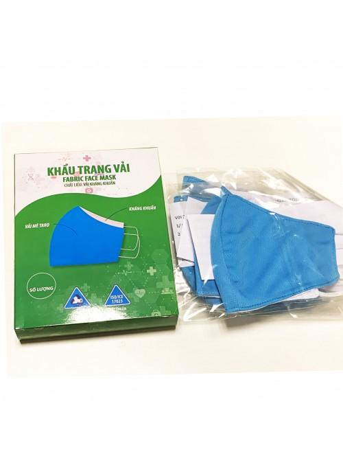 Khẩu trang vải kháng khuẩn chất lượng cao, 20 lần giặt, đã qua kiểm định