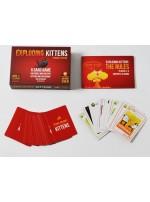 Bài Mèo nổ Exploding Kittens Màu Đỏ, chất lượng cao, giấy tốt